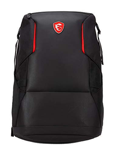 MSI Urban Raider Gaming Laptop Backpack, Quick Access, Padded Mesh, Lightweight Polyester Exterior, Fits Up to 17