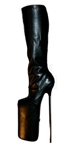 30cm Extrem Similicuir Pour High Erogance Bottes Femme Heels Kunstleder Kniestiefel Plateau apqwwFSxf