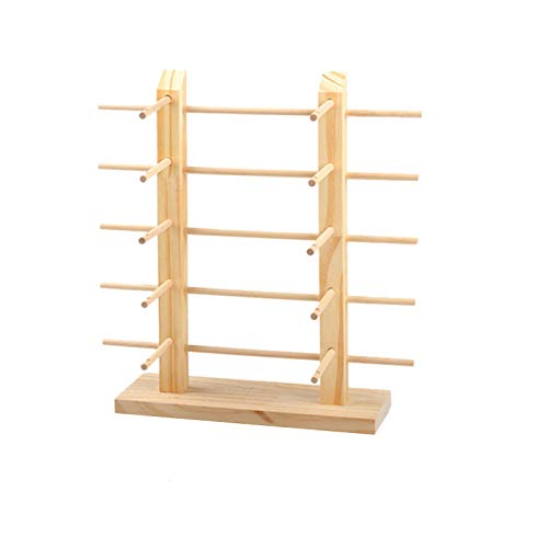 TOOGOO Multi Layers Wood Sunglass Display Rack Shelf Eyeglasses Show Stand Jewelry Holder for Multi Pairs Glasses Showcase Double 10 Rows