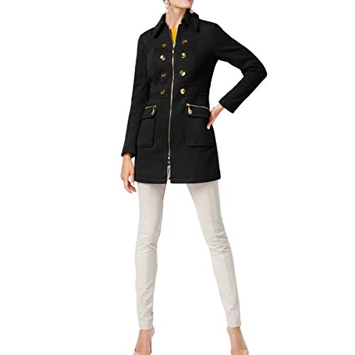 Concepts International Coat - I.N.C. International Concepts Women's Button-Trim Coat (Blue, X-Large Tall)