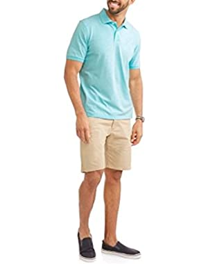 Mens Stretch Pique Short Sleeve Polo Shirt