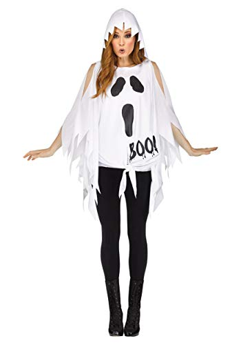Cute Ladies Halloween Costume Ideas (Fun World Womens Ghost Glitter Poncho)