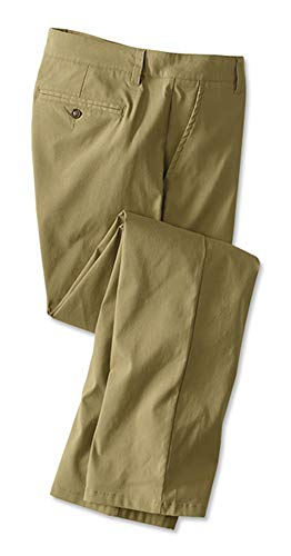 Orvis Men's Active Fit Chinos, Khaki, 36, Inseam: 32 Inch