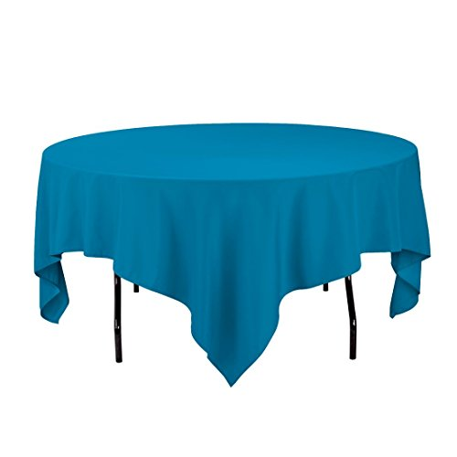 Gee Di Moda Square Tablecloth - 85 x 85 Inch - Caribbean Square Table Cloth for Square or Round Tables in Washable Polyester - Great for Buffet Table, Parties, Holiday Dinner, Wedding & More