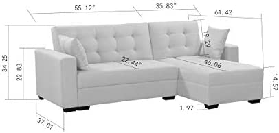 Amazon.com: BroyerK - Sofá cama reversible de 3 piezas ...