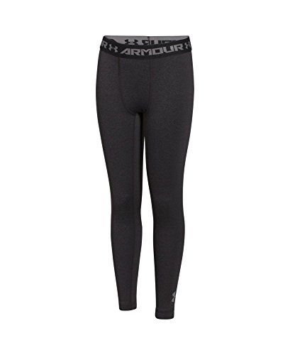 Under Armour Boys' UA ColdGear Armour Fitted Leggings Small Carbon Heather