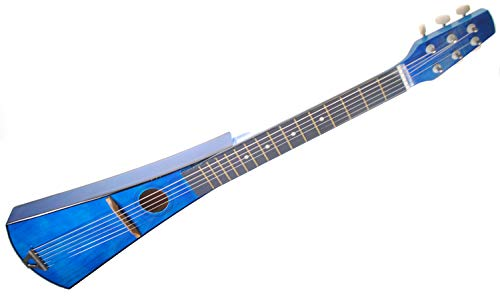Shop4Omni Steel String Backpacker Travel Guitar with Bag (Blue) (Guitar Travel Blue)