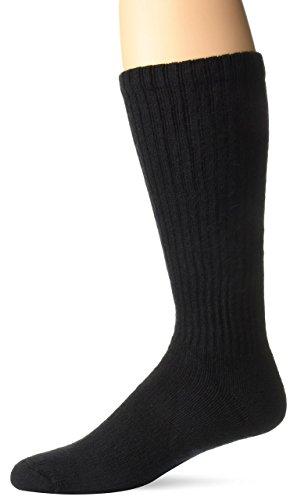 (BSN Medical 110853 JOBST Sensifoot Diabetic Sock, Crew Style, Closed Toe, Large, Black)