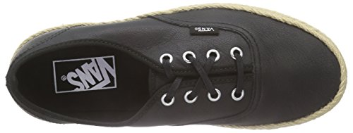 Vans Authentic Espadrille - Zapatillas Unisex adulto Negro (leather/black)