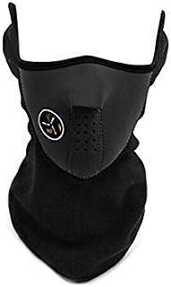 Flanelle Outdoor Riding Sking Warm Veil Neck Face Mask Noir