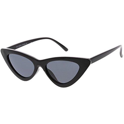 sunglassLA - Retro Vintage Trendy Cat Eye Sunglasses for Women with Flat Triangle Lens
