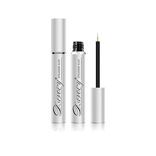 Davocy Eyelash Glue - Strong Hold, Clear, Latex-Free, waterproof. Best hypoallergenic adhesive for strip eyelash extension, false eyelashes, mink lashes. Perfect duo for sensitive eyes. 5.5ML 0.18OZ