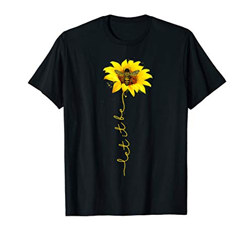 Tee Let It Bee Sunflower Graphic T-Shirt