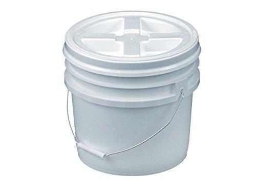 Bucket Kit, 3.5 Gallon Bucket with White Gamma Seal Screw-on threaded lid