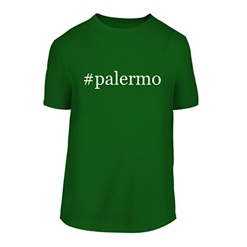 fan products of #palermo - A Hashtag Nice Men's Short Sleeve T-Shirt Shirt, Green, Large
