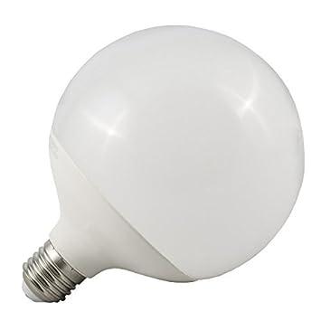 ElectroDH Bombilla E27 LED tipo Globo G120 18W (luz blanco cálido): Amazon.es: Electrónica