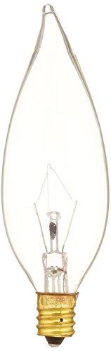 120v Clear Flame Tip (Bulbrite B25CFC 25-Watt 120V Incandescent Flame-Tip Chandelier Bulb, Clear, 2-Pack)
