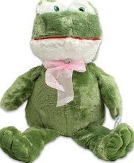 20 Silkies Frog with Ribbon plush toy. by Silkies (Silky Plush Frog)