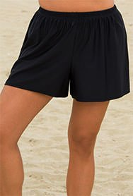 Beach Belle Women's Plus Size Black Short