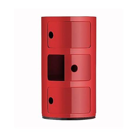 Cassettiera Kartell Usata.Kartell 496710 Cassettiere Componibili Colore Rosso