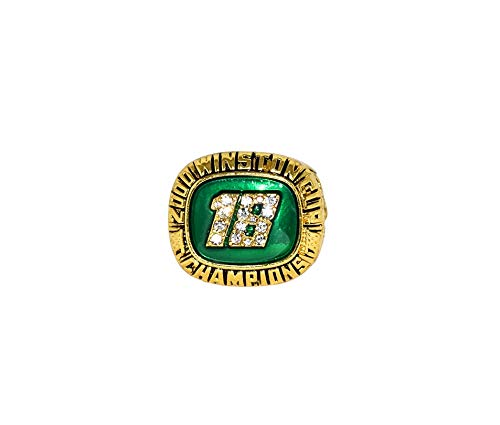 BOBBY LABONTE (Joe Gibbs Racing) 2000 NASCAR WINSTON CUP CHAMPION (#18 Interstate Batteries Team) Rare Collectible Replica Gold NASCAR Championship Ring with Cherrywood Display Box
