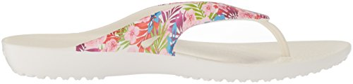 Floral Mujer Ii Kadee tropical Flip Multicolor Crocs Chanclas Para white Graphic z6gWq