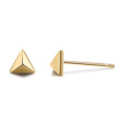 Minimalist 925 Sterling Silver triangle Earrings for Women Girl