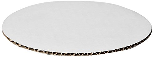 W PACKAGING WPCC08 Round Cake Pad, C-Flute, Non Grease Proof, Corrugated Paper Board, 8