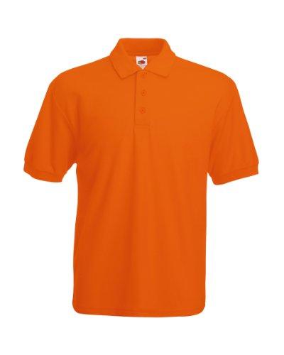 Fruit of the Loom Pique Polo Shirt SIZE XXL COLOUR Orange