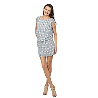 Cocum Blue Silk Casual Dress For Women
