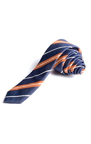 Orange Silk Boys Ties - 7
