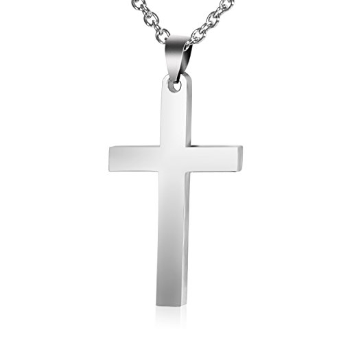 Stainless Steel Cross Necklace, Flashing Chain Necklace with Dedicated Dross (Necklace Stainless Cross)