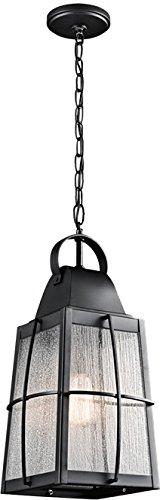 Kichler 49556BKT Tolerand Outdoor Pendant 1-Light, Textured Black (Kichler Textured Black Deck)