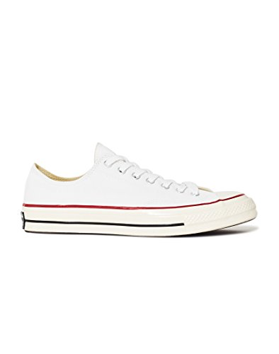 de Red White Canvas Converse CTAS Ox Zapatillas Deporte Chuck Taylor Black Unisex 70 Blanco 110 Adulto 0Ux01qC