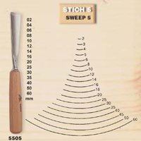 Stubai 550516 Type 5 Long/Polished Woodcarving Chisel, Grey/Beige, 16 mm