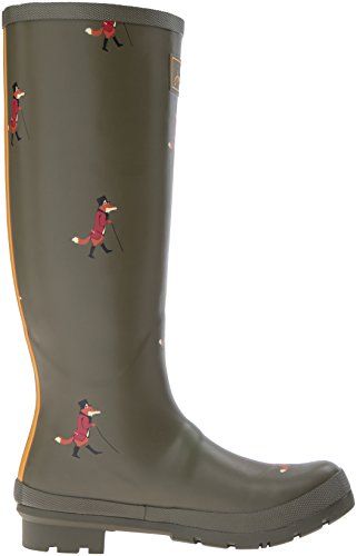 Print Women's Welly Rain Joules Green Boot Fox qCfgnzn