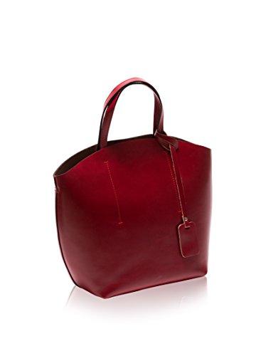 A Bag Roberta Mano Rosso Borsa Shopper M EEqBUF