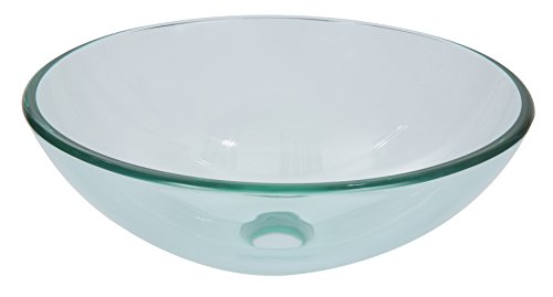 Clear Tempered Glass Round Basin, 0.5'' thick - 0.5' Thick Glass