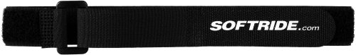Softride SoftWraps, All Purpose Hook and Loop Tie Down Cinch Straps, Black Softride.com,  16x1-inch, 4-Pack (26586)