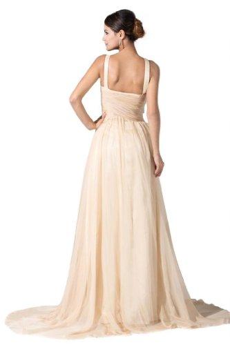 Orifashion para vestido de noche mujer a forma de los colores bronceado