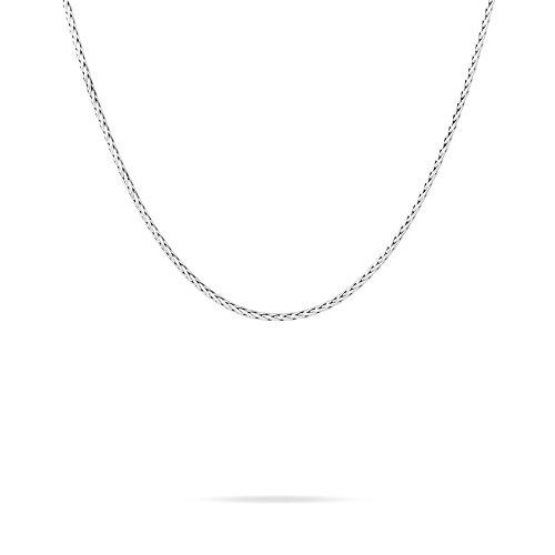 HISTOIRE D'OR - Chaine Or Blanc Maille Plamier 42cm - Femme - Or blanc 375/1000