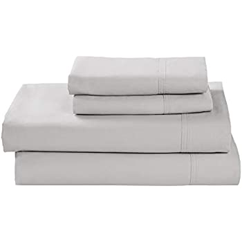 Rivet Percale 100% Organic Cotton Bed Sheet Set, Easy Care, Full, Vapor