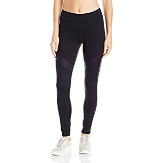 Marc New York Performance Women's Long Active Legging W/Shine Accents, Black, Small