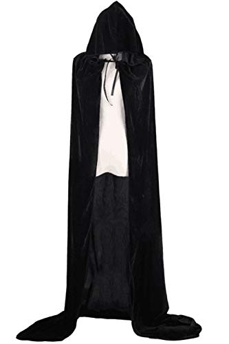 Black Donne Le Dimensioni Mantelli Incappucciato Più Di Cosplay Costume Halloween Sopliagon Pv5qwgw