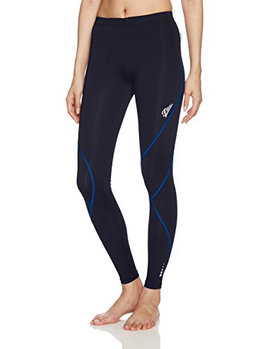 FILA Women's Athletic Leggings Tights 445407 For Cycling, Running, Yoga, Workouts Women's Pants (L, Nvy/Blu) (Womens Fila Pants)