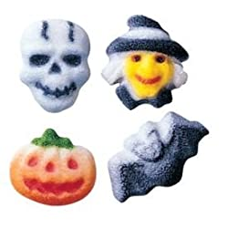 Lucks Halloween Charms Assorted Edible Dec Ons, Set Of 16