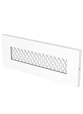 "LBL Lighting BL94409WHLEDTL277W Tracery - 9.05"" 277V 5W 1 LED Turtle Horizontal Outdoor Brick Light, White Finish"