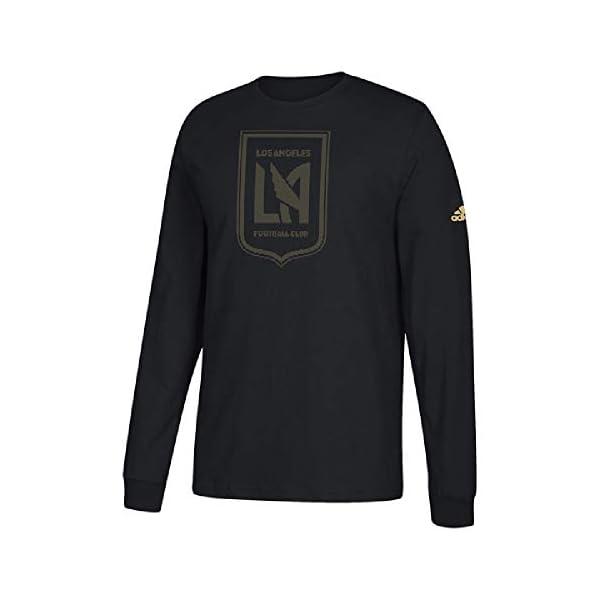 54919ba2ada adidas Los Angeles Football Club LAFC Men s Logo Black Long Sleeve T-Shirt