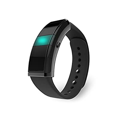Nex is your Customizable Smart Band, The Evolving Wearable With Custom Light Notifications, Activity Tracker, Game Controller, Smart Home Integration - One Wearable. Endless Control. (Black)
