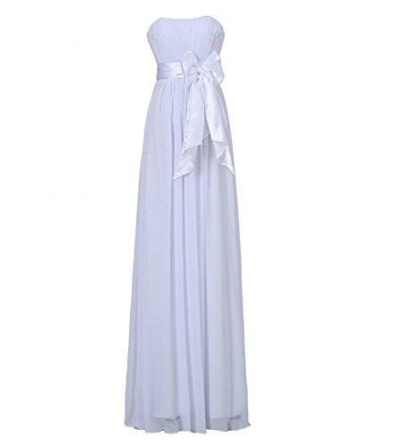 Evening A Dresses White Women's Long Line Strapless Beauty AK qaAxStRwYx